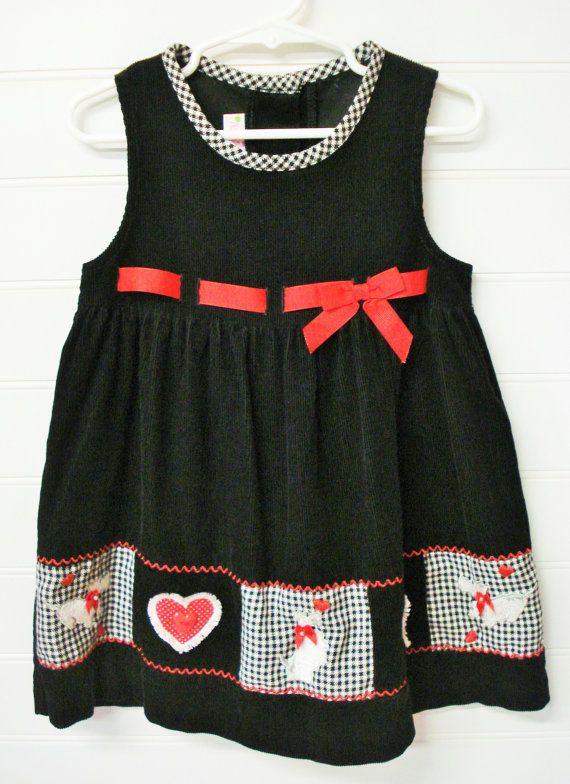 Ropa vintage para niños pequeños vestido Toddller vestido vestidos