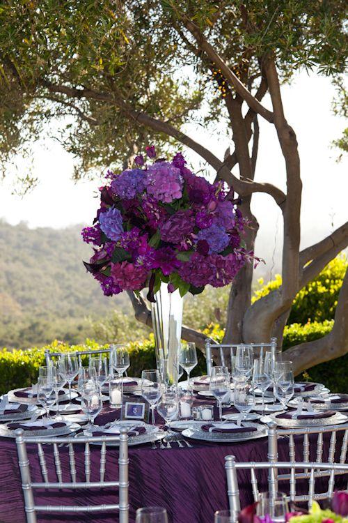 ideas decoración boda violeta, morado, lila Índigo bodas y eventos