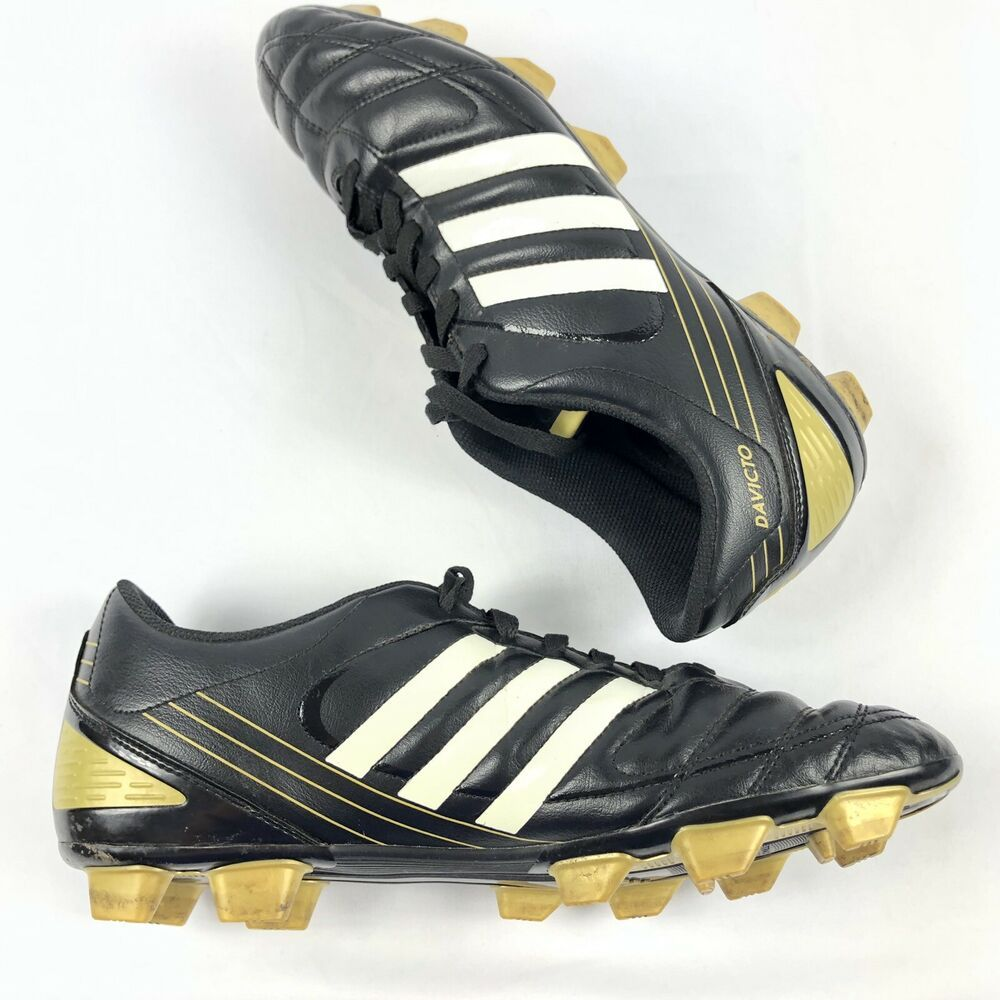 Adidas davicto soccer cleats black gold mens size 12