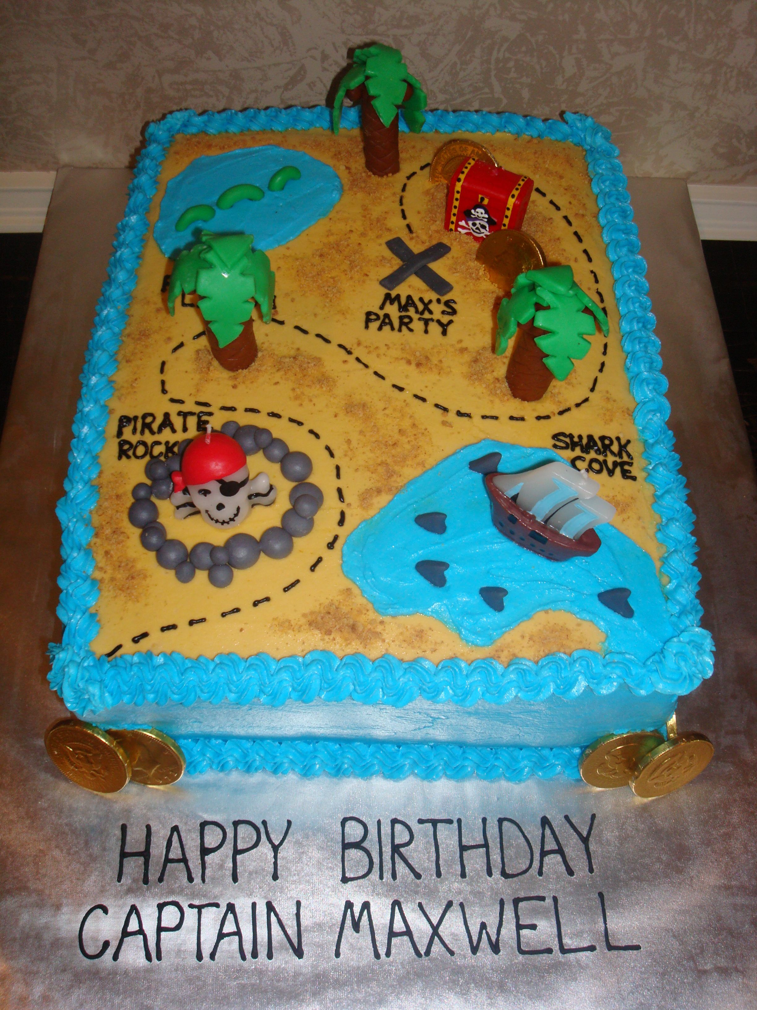 Treasure Map Cake Treasure Map Childrens Birthday Cakes Kid