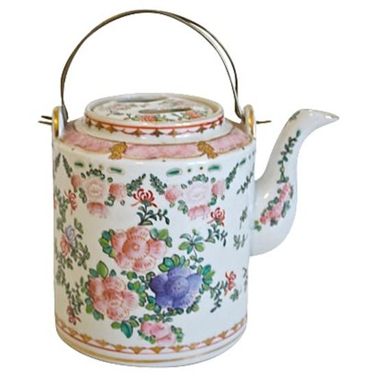Hand-Painted Porcelain Teapot