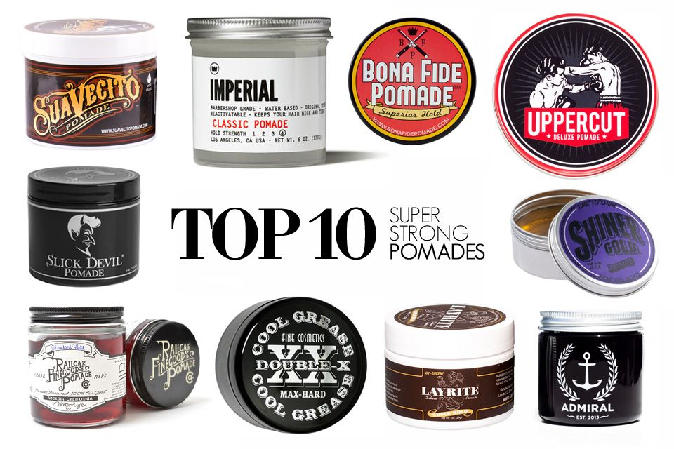 Top 10 Super Strong Hold WaterBased Pomades Hommes