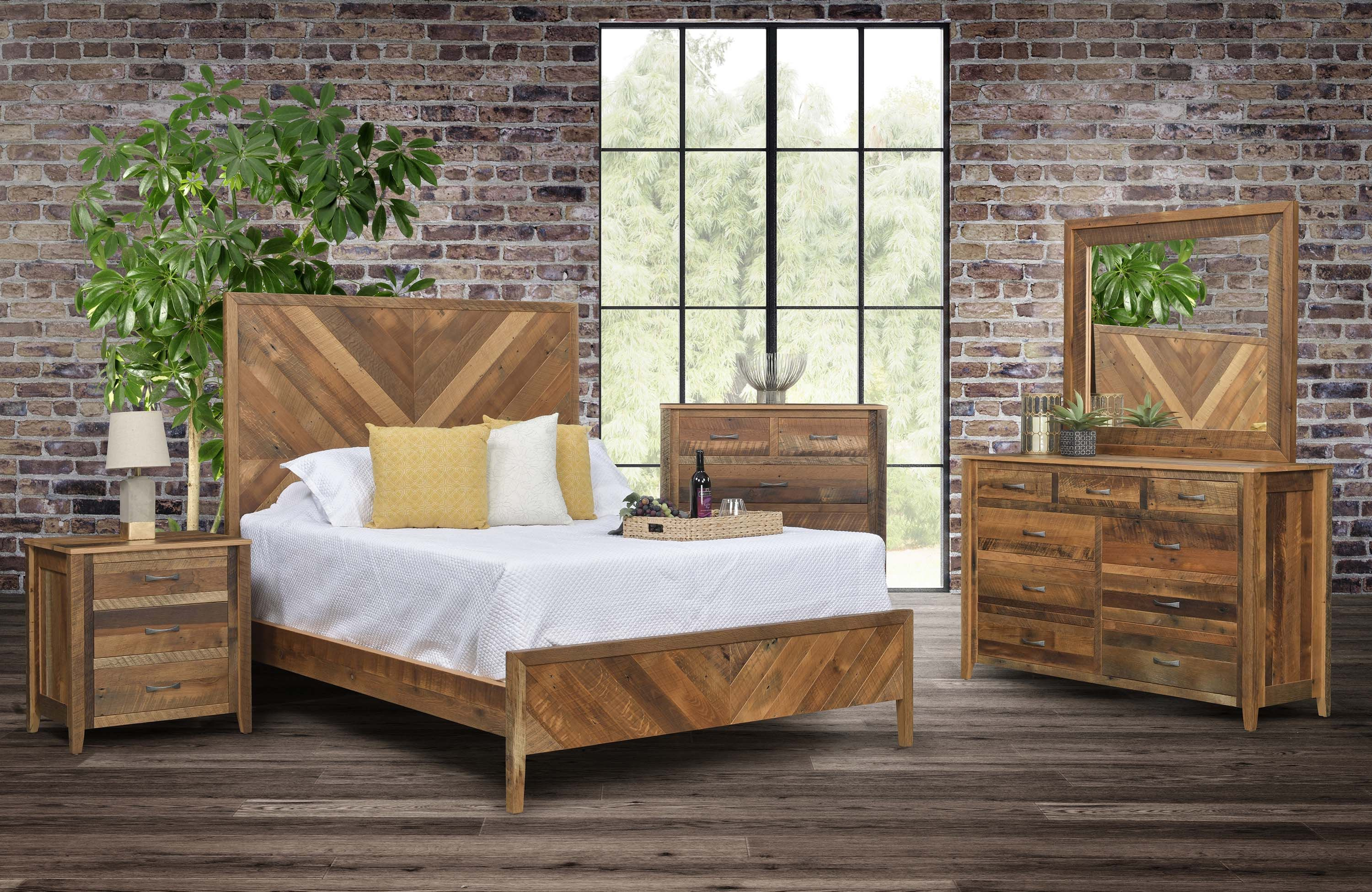 Shefford Bedroom Suite Reclaimed Wood Barn Wood Rustic