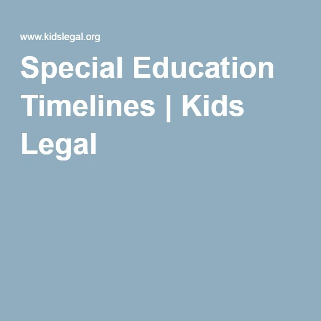 special education timelines kids legal autistic support