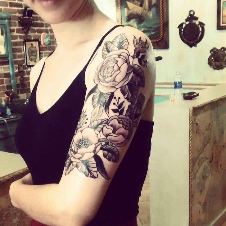 The Electric Mermaid Girl Half Sleeve Tattoos Half Sleeve Tattoo Mermaid Sleeve Tattoos