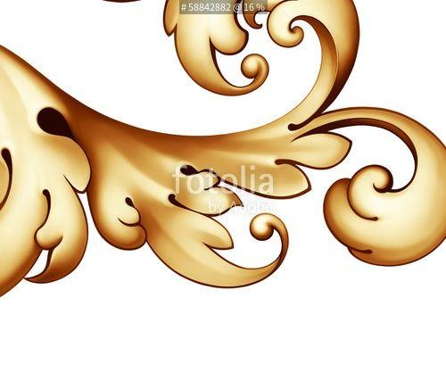 """""""vintage Baroque golden scroll ornament"""" Stockfotos und lizenzfreie Bilder auf Fotolia.com - Bild 58842882"""