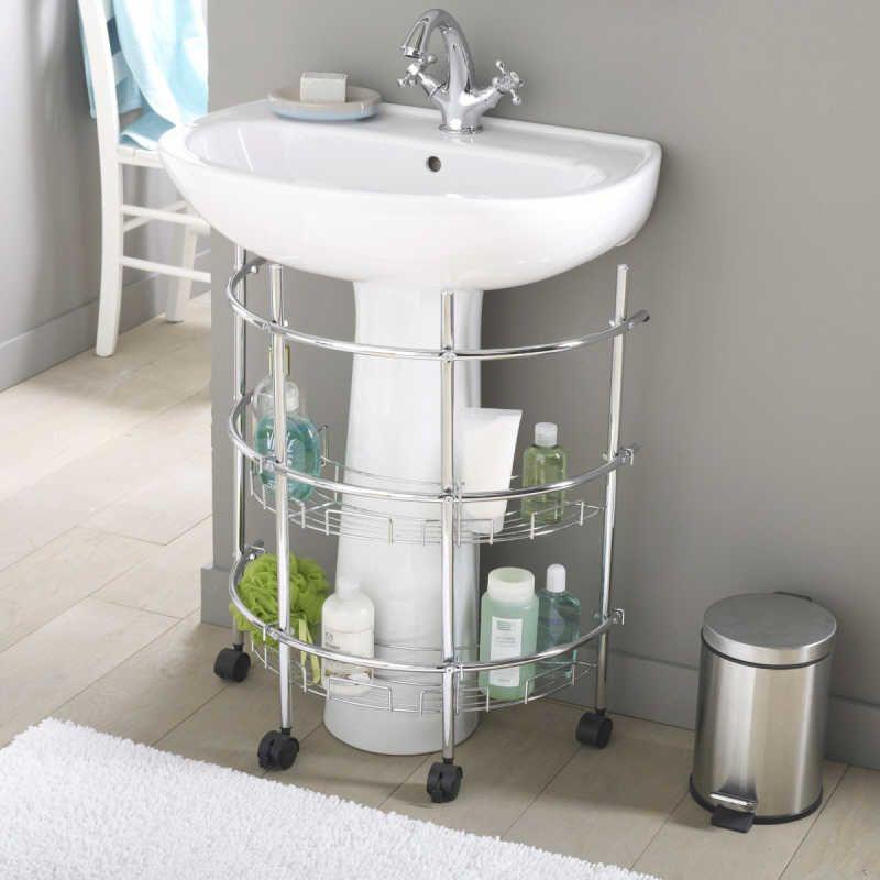etagere meuble de rangement sous evier ou lavabo roulettes salle de bain pinterest. Black Bedroom Furniture Sets. Home Design Ideas