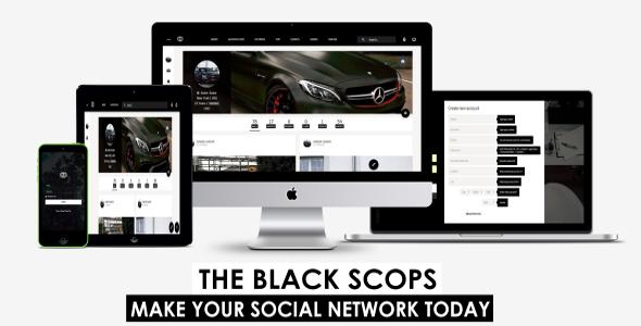 Black Scops Engine - PHP Social Networking Platform