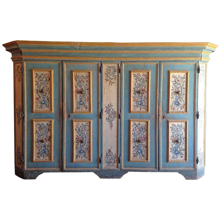Antique Italian Painted Armoire