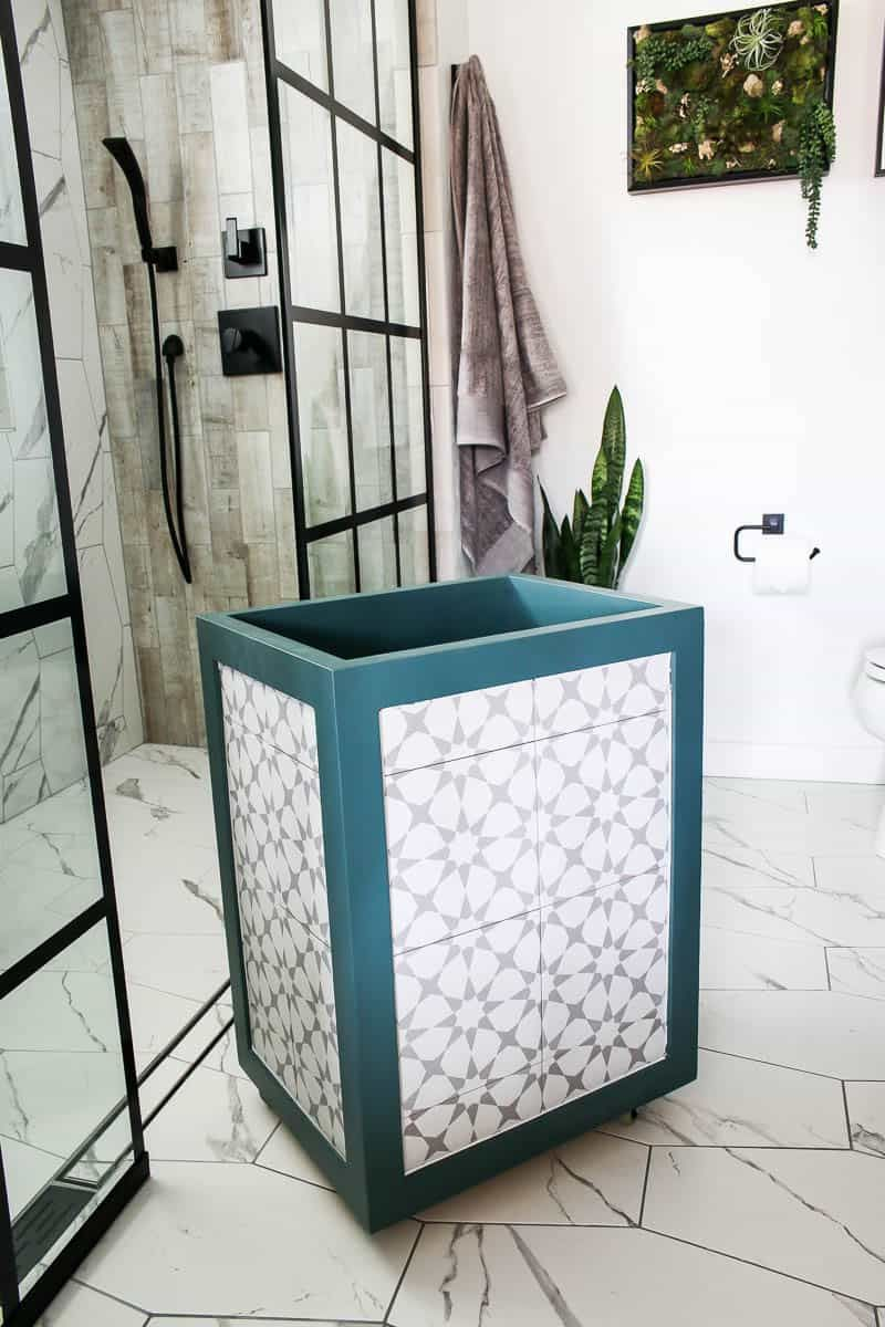 Diy Tile Laundry Hamper In 2020 Diy Projects Bathroom Diy Tile Cool Woodworking Projects