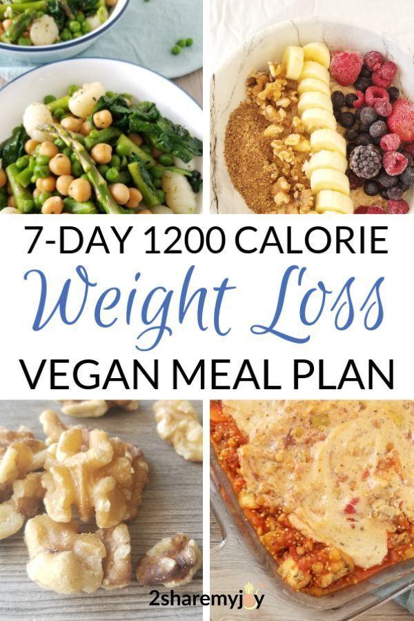 Vegetarische Ernährung mit 1200 Kalorien