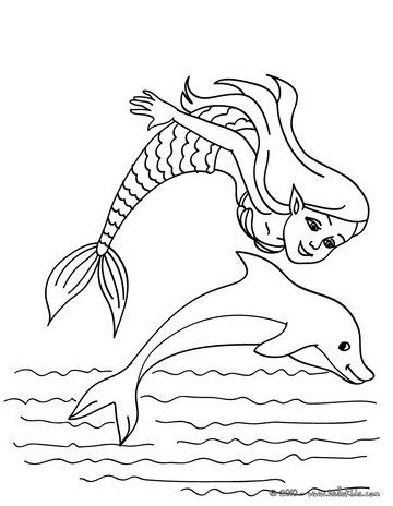 Ausmalbilder Delphin Meerjungfrau Ausmalbilder Malvorlagen Tiere Malvorlagen Fur Madchen