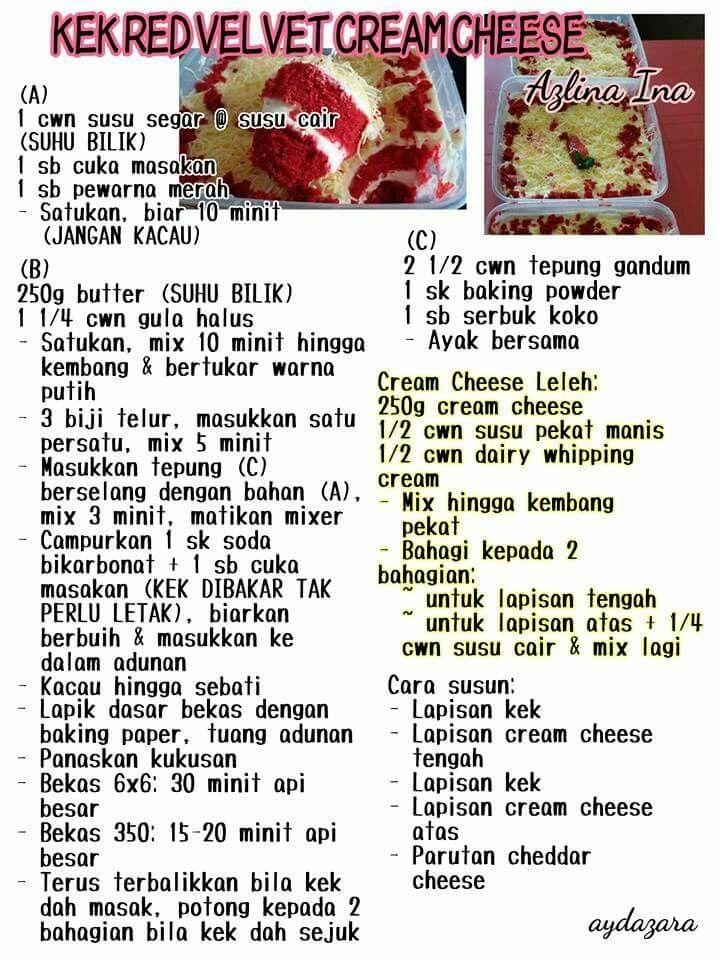 Kek Red Velvet Cream Cheese Koleksi Azlina Ina Cake