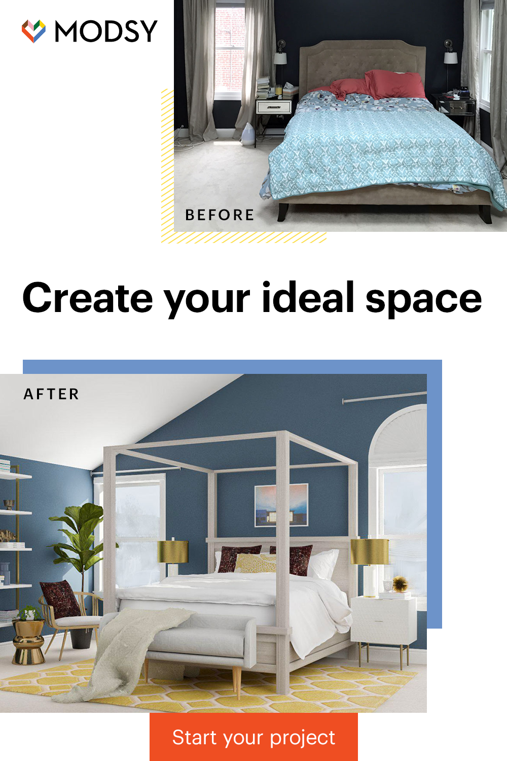 Online Interior Design With Modsy Living Rooms Dining Rooms Bedrooms More Modsy Room Design Bedroom Decor