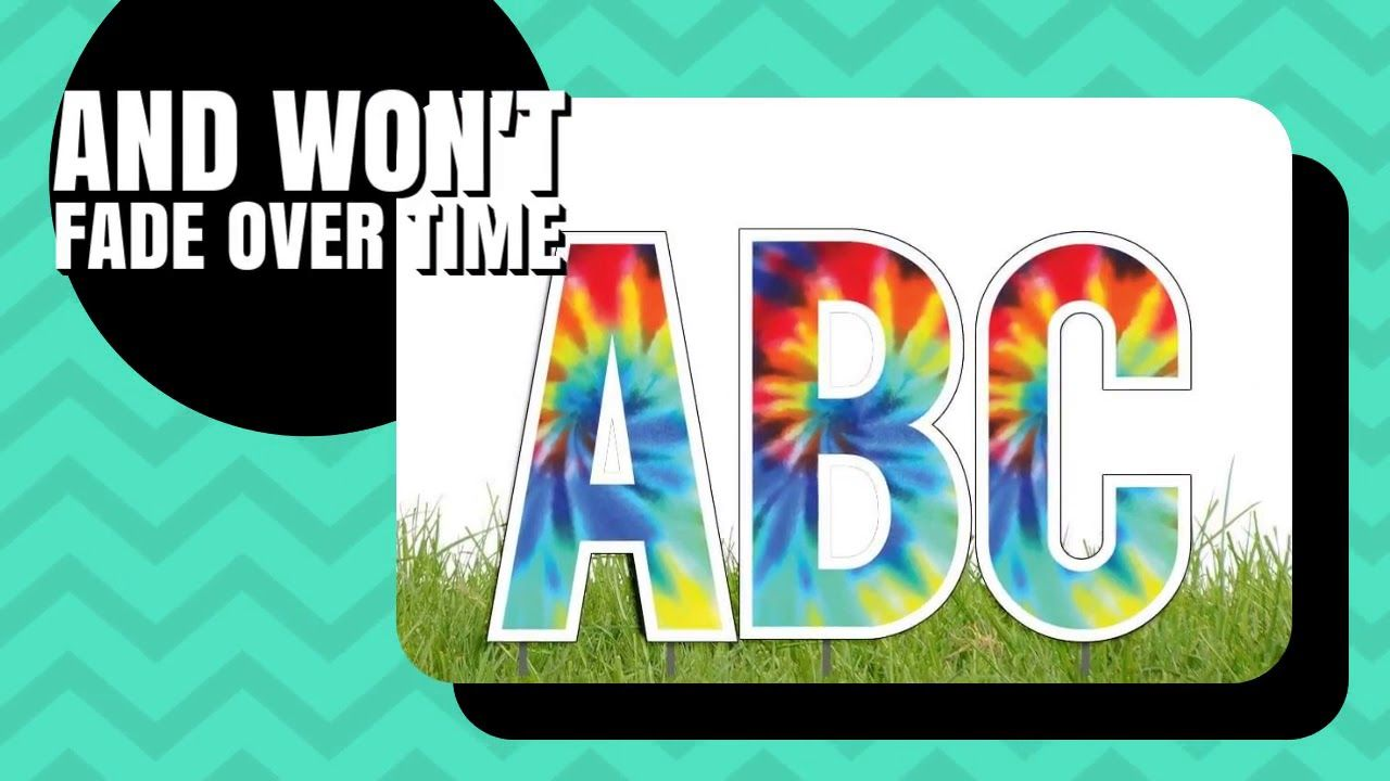 Alphabet yard letters alphabet yard card 100 waterproof