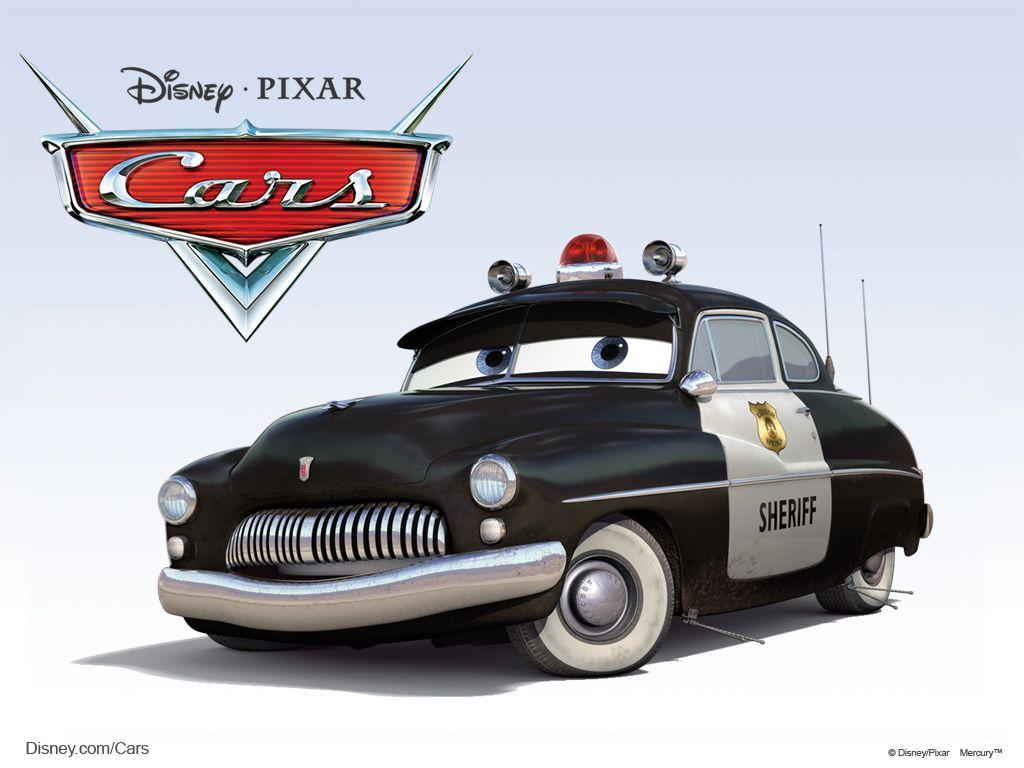 Disney Pixar Cars Characters Sheriff 1949 Mercury Police Cruiser