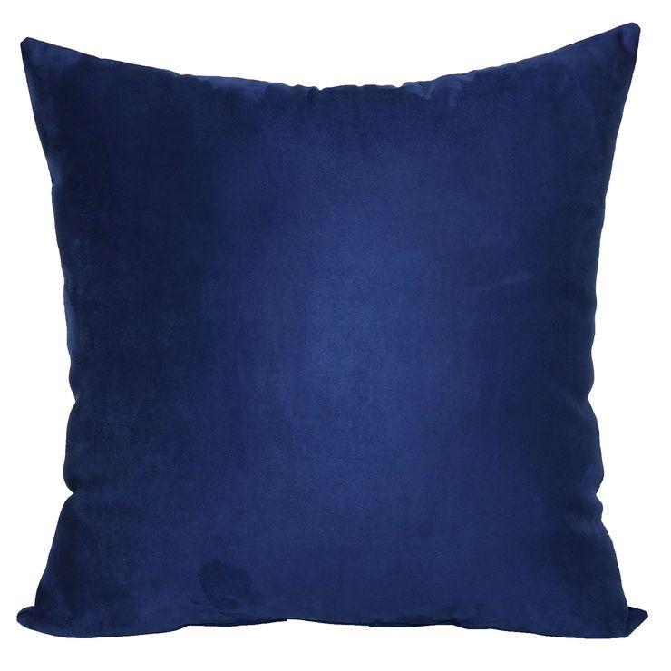 Dark Blue Heavy Suede Pillow, 24,in