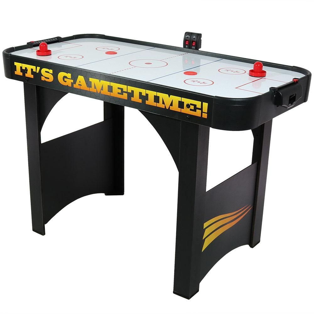 Sunnydaze Decor 48 In Air Hockey Table With Scorers And Accessories Dq A002 The Home Depot In 2020 Air Hockey Table Sunnydaze Decor Air Hockey