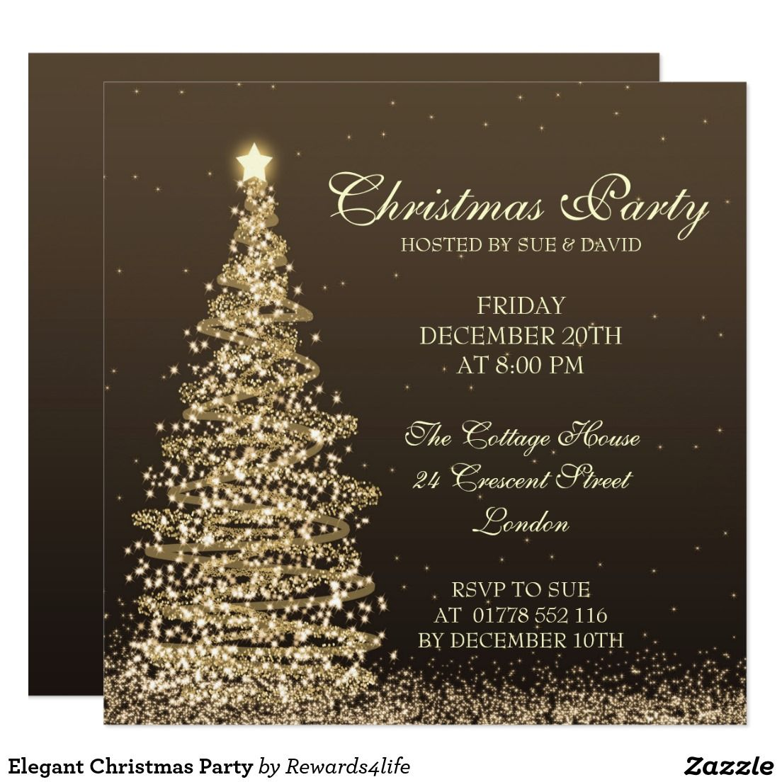 elegant christmas party card christmas party invitations elegant christmas party card