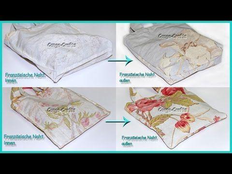Tasche mit französischer Naht nähen - DIY - 2 Varianten | Nähen ...
