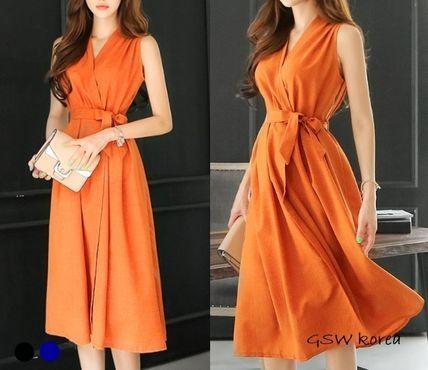 ワンピース 韓国新作夏物 エレガントなエイドワンピース3色 ファッションアイデア ワンピース 夏物