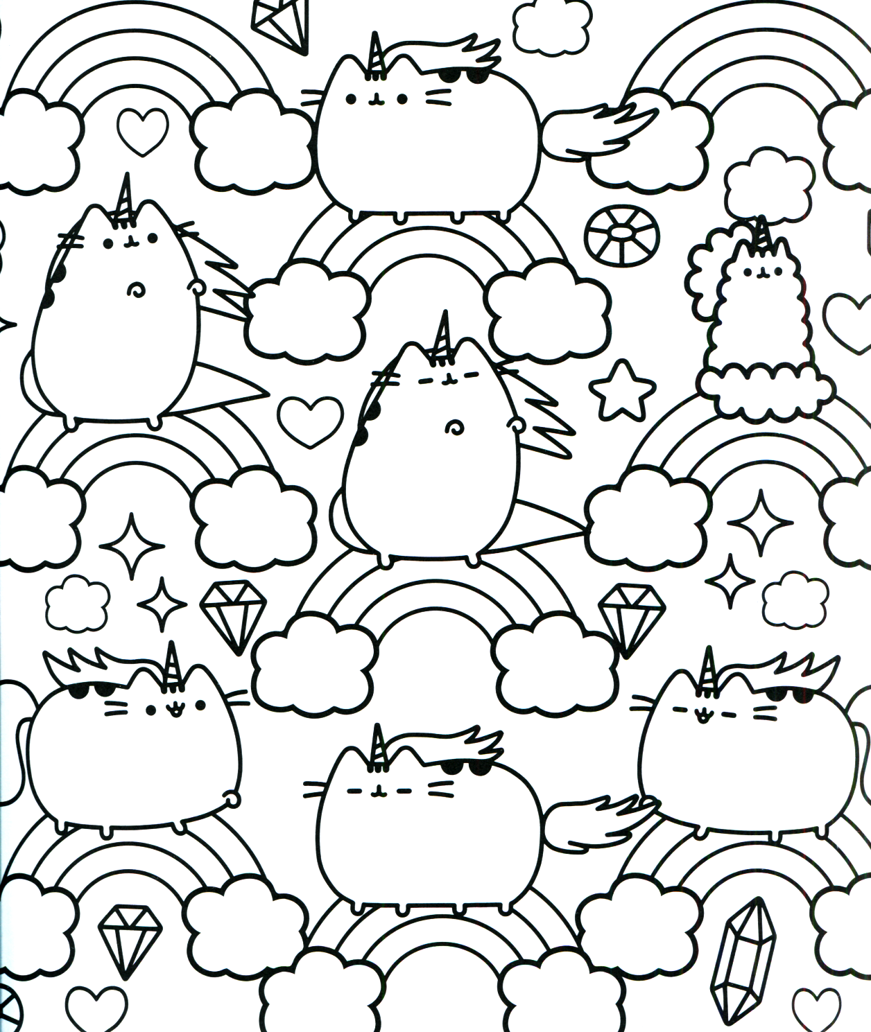Pusheen Coloring Book Pusheen Pusheen the Cat | Caméo | Pinterest ...
