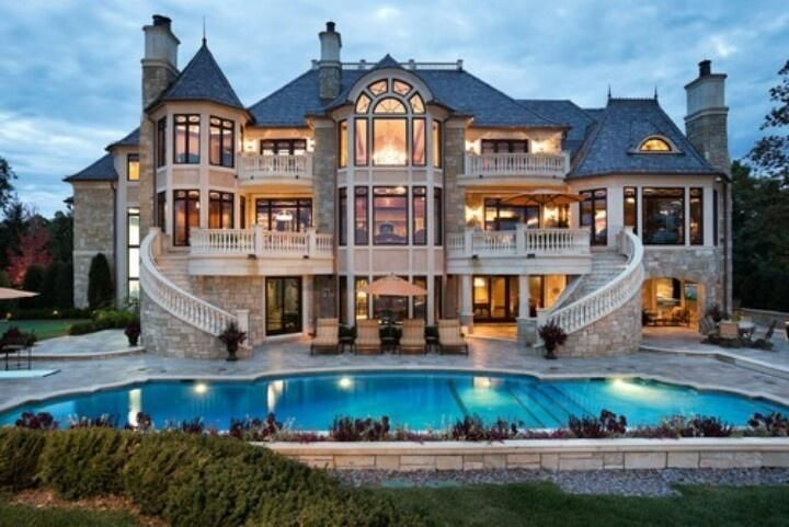 Three Story Mansion With Pool Dream Homes Pinterest Dream Mansions Dream Mansion My Dream Home