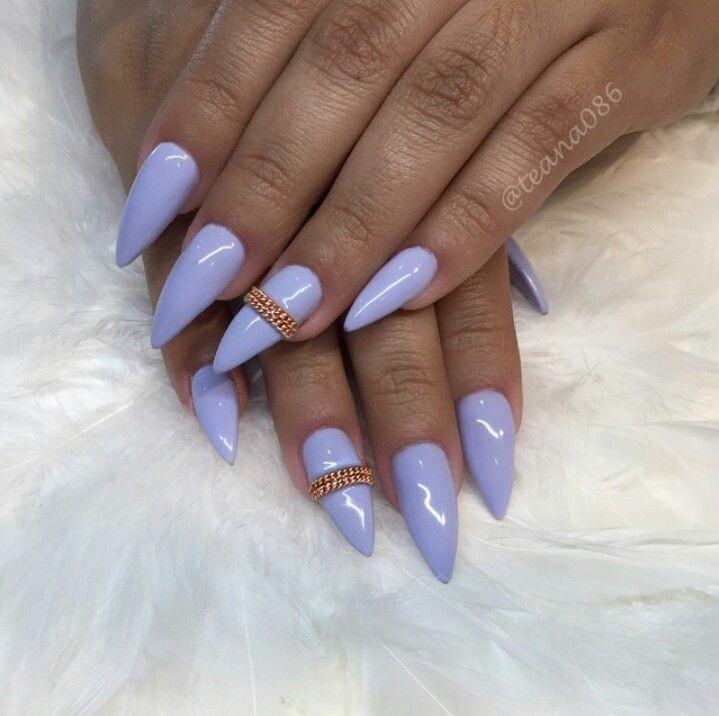 teana nails periwinkle blue stiletto