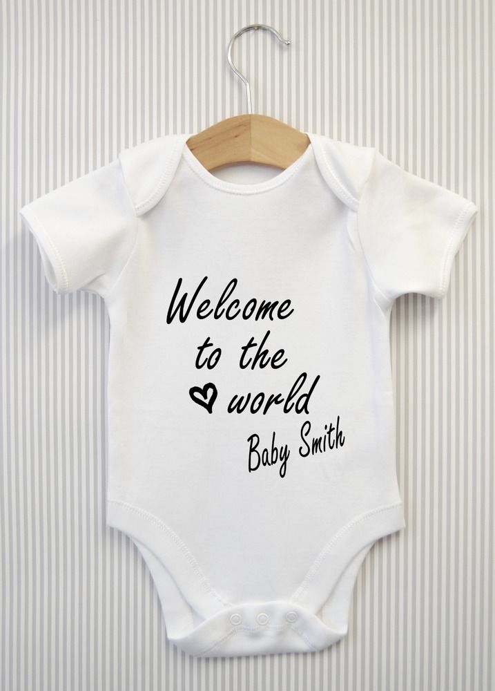 Personalized CUSTOM Onesie Baby Shower Announcement