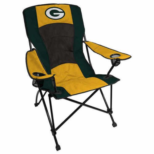NFL Portable Chair Folding High Back Green Bay Packers Camping Tailgate 2  Pack