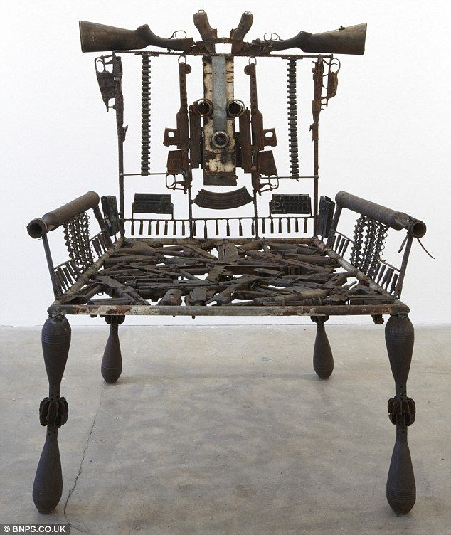 ARMchair: Mabunda has made a variety of sculptures out of scrapped weapons and failed ammunition