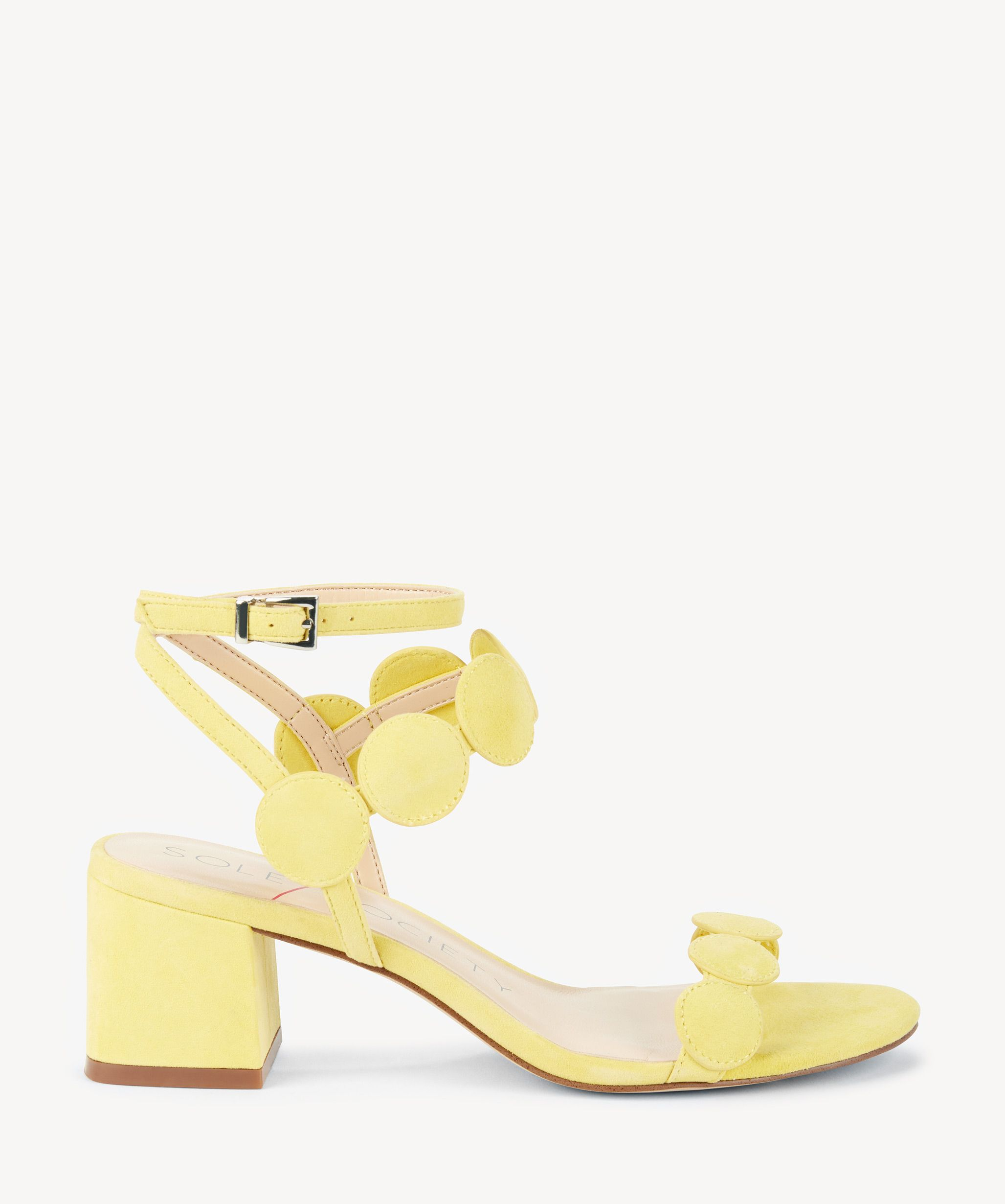 1fb0ed52e4608d Sole Society Shea Strappy Heeled Sandals Pale Yellow