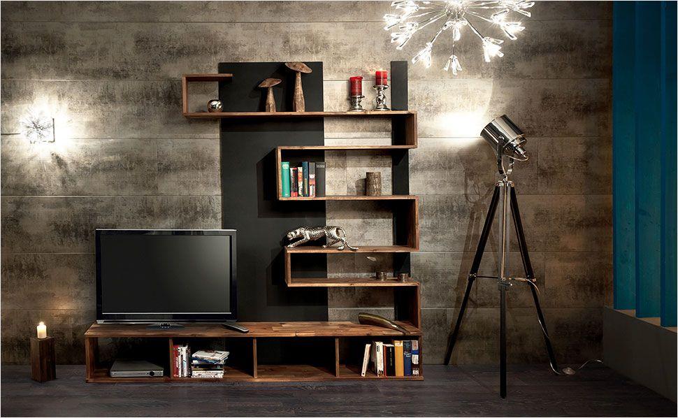 Dunkles TV Board Bauen