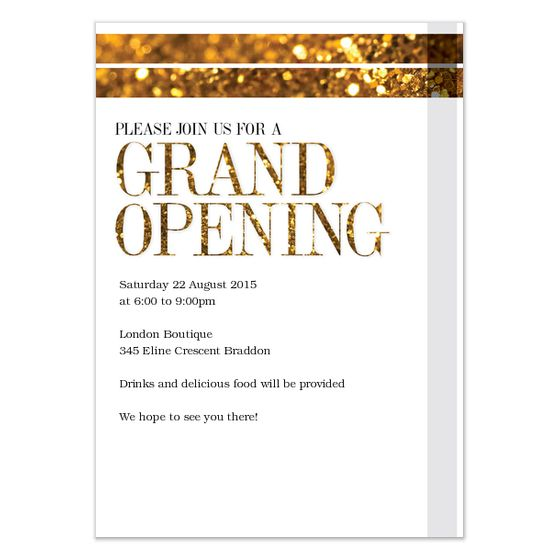 invite and ecard design RPS,LLC Pinterest Grand opening - business invitation letter template