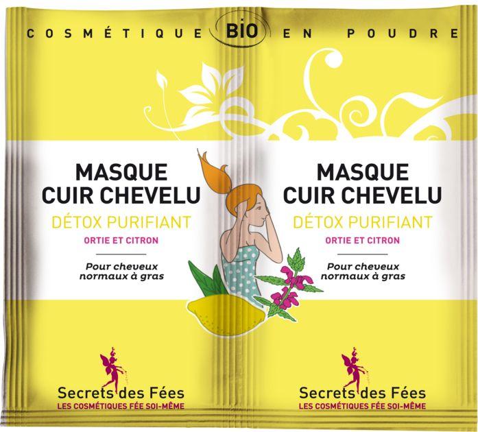Masque cuir chevelu detox purifiant - Secrets des Fées