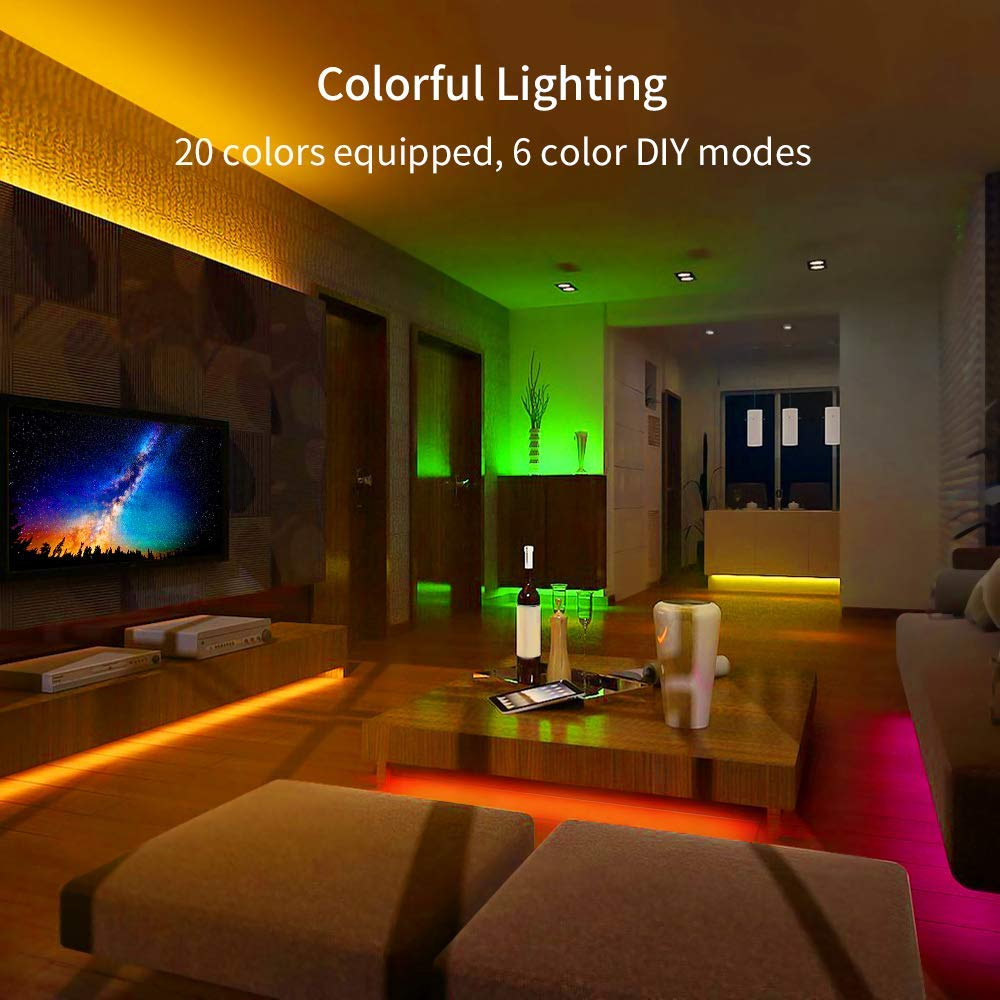 Led Strip Lights Govee 16 4ft Rgb Led Light Strip With Remote And