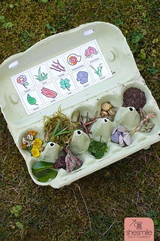 Natur-Bingo für Kinder (Druckvorlagen und Spielideen) #einfachebastelarbeitenfürkinder