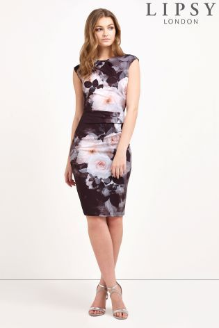 e88d30244fac Buy Lipsy Floral Print Shift Dress from the Next UK online shop ...