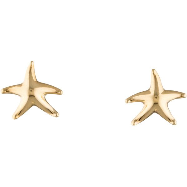ad4ec3ef9 Tiffany & Co. Starfish Earrings ($645) ❤ liked on Polyvore featuring jewelry ,