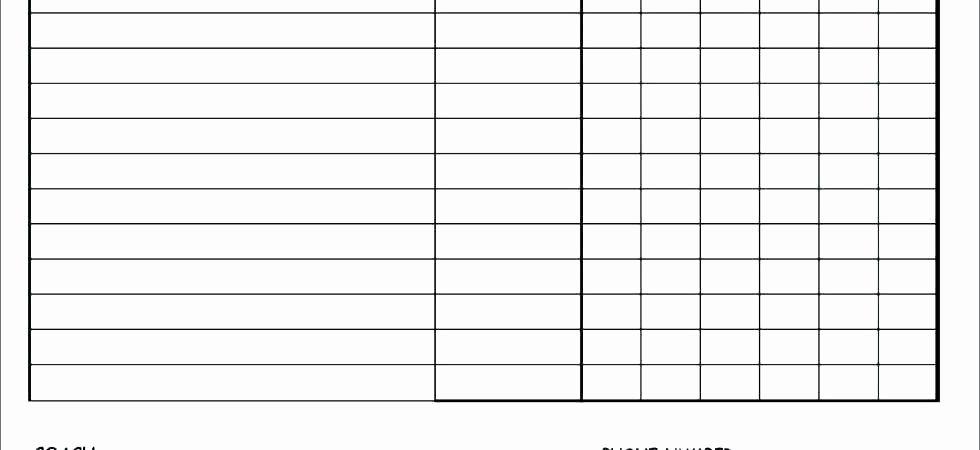Blank baseball lineup sheet lovely basketball roster