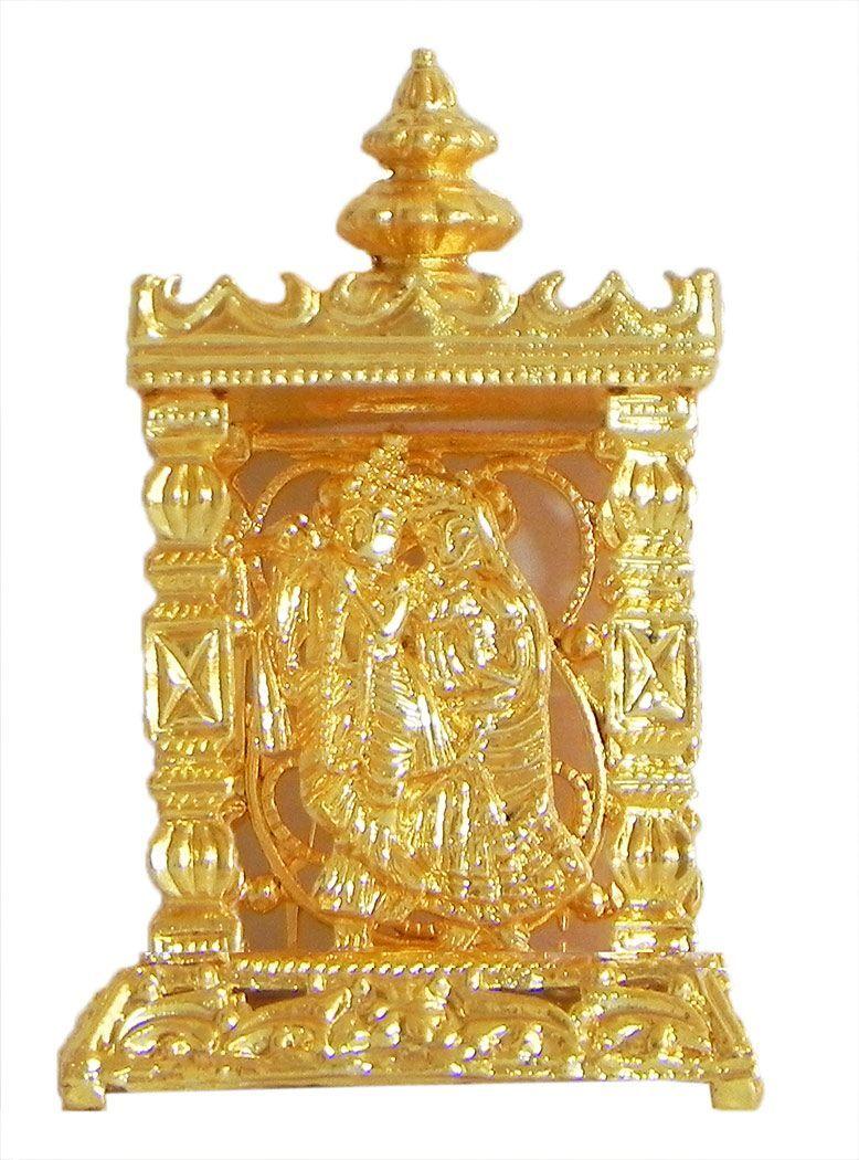 Metal Radha Krishna in Temple for Car Dashboard | Krishna, Temple ...