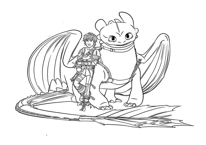 Ausmalbilder drachenzähmen leicht gemacht 2 Dragon
