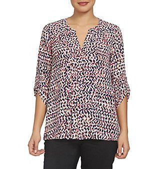 Chaus Printed Texture Blouse