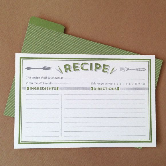 17 Best images about Recipe Card Templates – Templates for Recipe Cards