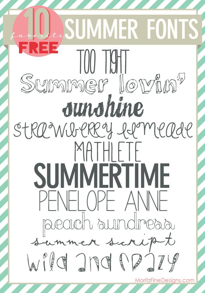 Free font friday free summer fonts 10 free fonts links to free font friday free summer fonts 10 free fonts links to ccuart Gallery