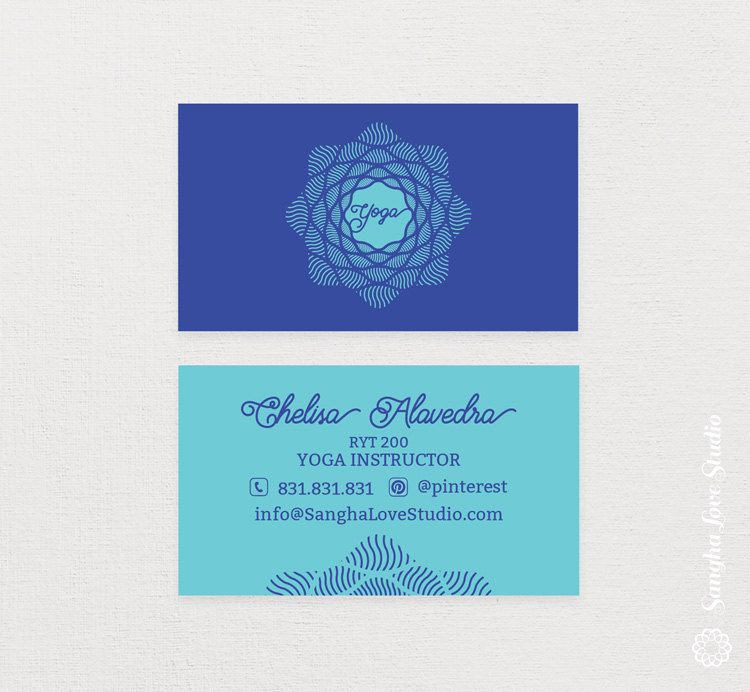 Shine Yoga Business Card or Wellness Yoga Business Card by ...