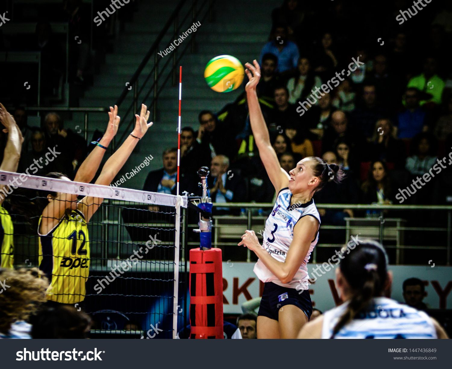 Istanbul Turkey January 23 2019 Match Played Between Fenerbahce Opet Istanbul And C S M Bucuresti At Burhan Felek Sports In 2020 Sport Hall Photo Editing Istanbul