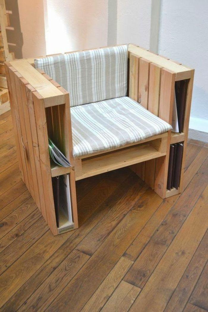 1001 ideas con palets originales y f ciles para tu casa for Cojin para muebles de jardin en palet