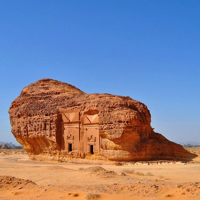 Arabian Petra: Al-Hijr a world heritage site of Saudi Arabia with
