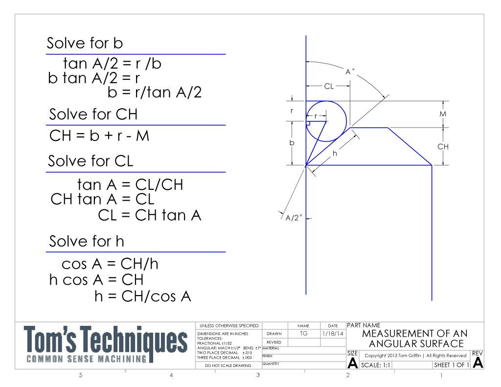 Chamfer Calculations In